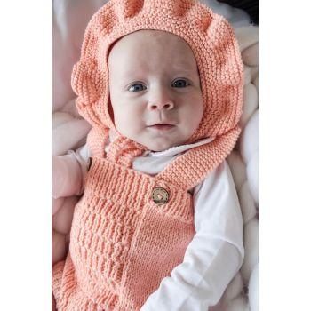 Ruffle Bonnet - Papaya