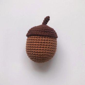 "Crochet Acorn - 10 cm - 3.94"""