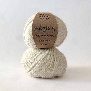100% Baby Alpaca Yarn - NATURAL