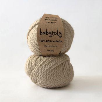 100% Baby Alpaca Yarn - OATMEAL