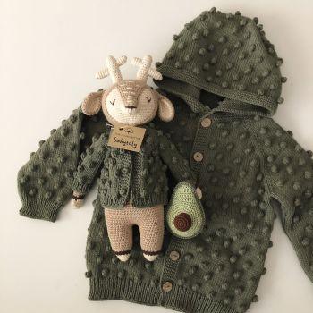 Avocado - crochet toy