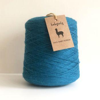 100% Baby Alpaca Yarn - Petrol Blue