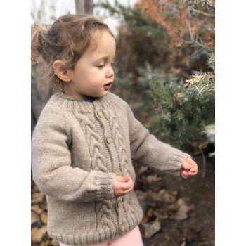 Baby Alpaca Blume Cardigan - 100% Baby Alpaca