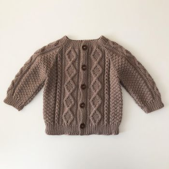 Cable Cardigan - taupe, natural, beige select colors