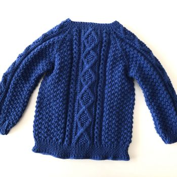 Cable Cardigan - sapphire