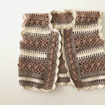 Callie Crochet Top ** Stripes unique design