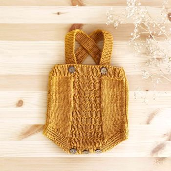 Cross Romper - golden brown, birch