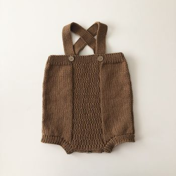 Cross Romper - camel