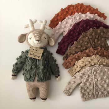 Popcorn Cardigan for Deer Sleep Friend - select colors