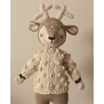 Popcorn Cardigan for Deer Sleep Friend