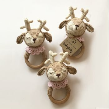 "Fawn Rattle 6.1"" - 15.5 cm"