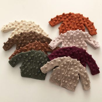 Popcorn Cardigan for Deer Sleep Friend - various colors