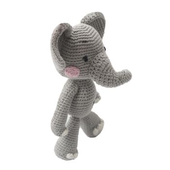 "Crochet Toy Elephant 12.5"" - 32 cm"