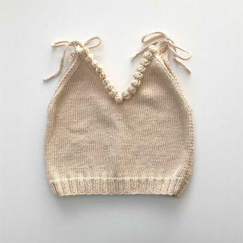 Eva Knit Top - w/Popcorns , natural + natural