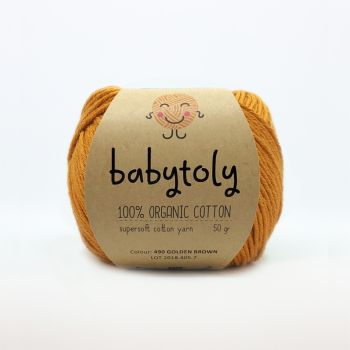 Organic Cotton Yarn - GOLDEN BROWN