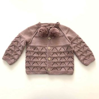 Helena Cardigan - dusty rose, natural and various colors