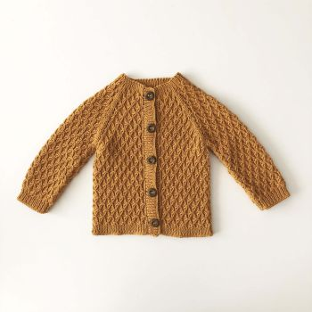 Honeycomb Cardigan - golden brown