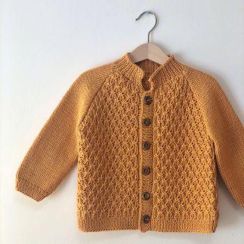 Honeycomb Cardigan - golden brown