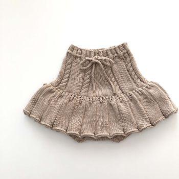 Ivy Skirt - New, deep red, beige