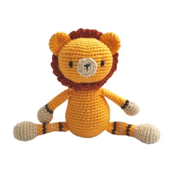 "Crochet Toy - Lion 9.5"" - 24 cm"