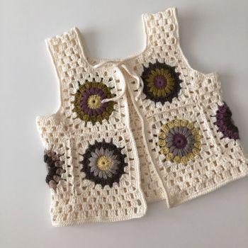 Marla Crochet Patchwork Vest * design 1