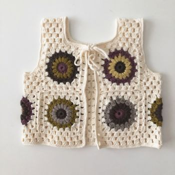 Marla Crochet Patchwork Vest * design 2