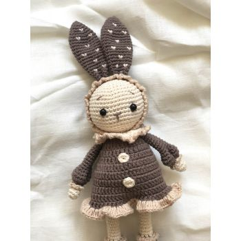 "Crochet Toy Mimi Bunny 11"" - 28 cm"