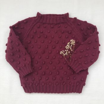 Popcorn Sweater - Mulberry