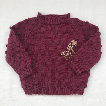 Popcorn Sweater - Mulberry