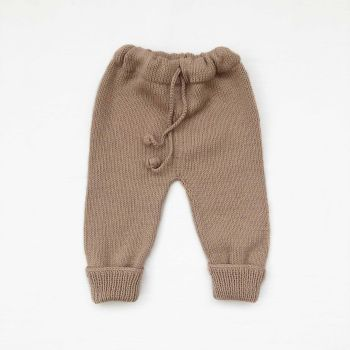Knitted Pants - birch, clay, mink