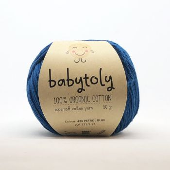 Organic Cotton Yarn - PETROL BLUE