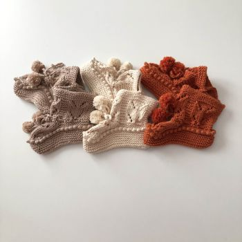 Pompom Booties - choose colors
