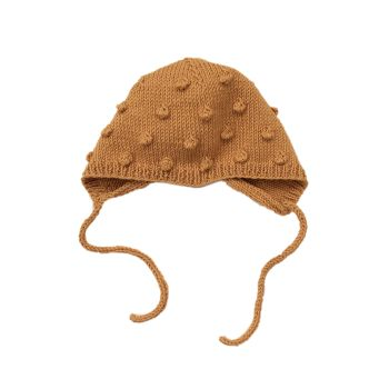 Popcorn Bonnet - Golden Brown