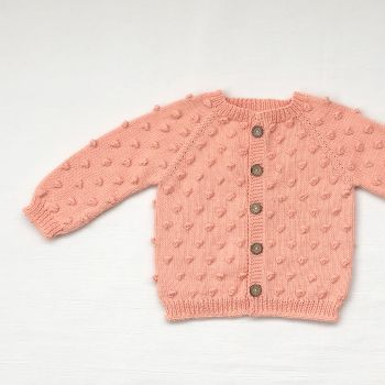 Popcorn Cardigan - Papaya