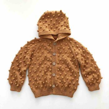 Popcorn Jacket , Hoodie - deep red, golden brown