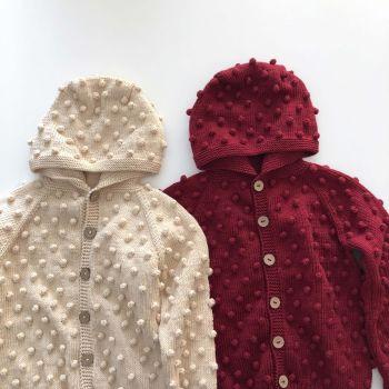 Popcorn Jacket , Hoodie - natural, deep red