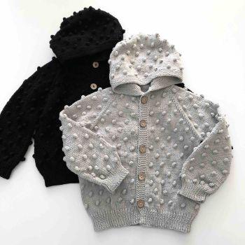 Popcorn Jacket , Hoodie - silver, black
