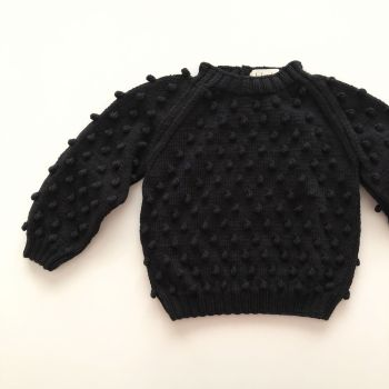 Popcorn Sweater - black, lime