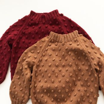 Popcorn Sweater - terracotta, deep red