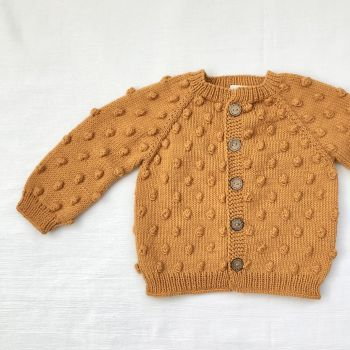 Popcorn Cardigan - Golden Brown