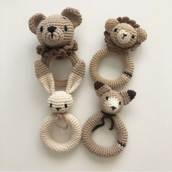 "Bear Rattle 6.1"" - 15.5 cm"