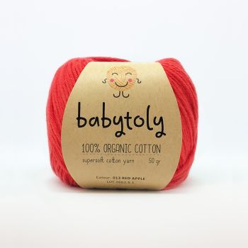 Organic Cotton Yarn - RED APPLE