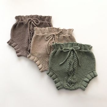 Rococo Bloomers - mint, taupe, beige