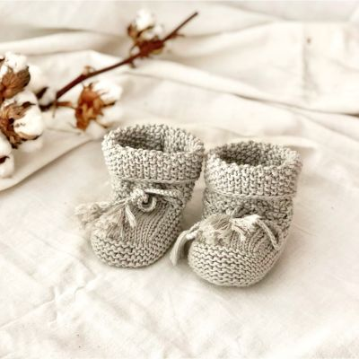 Seed Booties - birch, silver