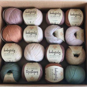 16 Yarn Bundles - Organic Cotton Yarn (choose colors)