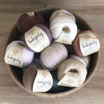 10 Yarn Bundles - Organic Cotton Yarn (choose colors)