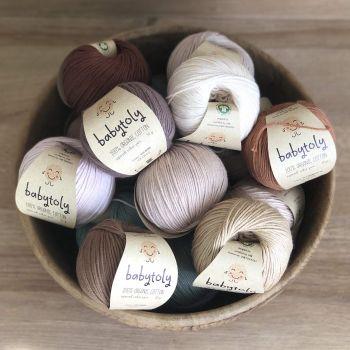 10 Yarn Bundles - Organic Cotton Yarn (choose colors)