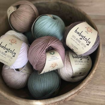 12 Yarn Bundles - Organic Cotton Yarn (choose colors)
