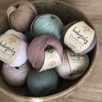 12 Yarn Bundles - Organic Cotton Yarn (choose colors)